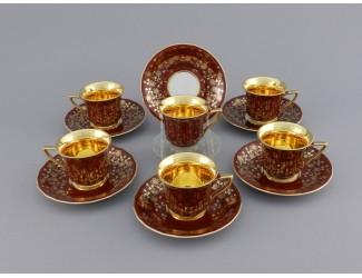 Набор кофейных пар на 6 персон 12 предметов 50мл Leander Виндзор 13160413-A341