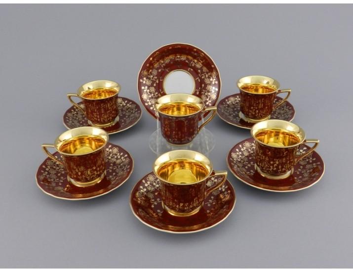 Набор кофейных пар на 6 персон 12 предметов 0,10л Leander Виндзор