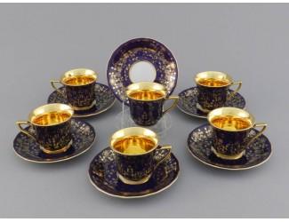 Набор кофейных пар на 6 персон 12 предметов 50мл Leander Виндзор 13160413-D341