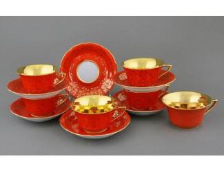 Набор чайных пар 0,10л 6Шт Leander Виндзор