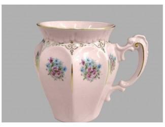 Кружка Leander 250мл Розовый фарфор, розовые цветы
