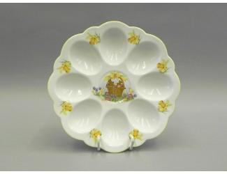 Поднос для яиц 19,5см Leander Мери-Энн Красна лента декор 0884 Пасхальный заяц