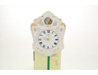 Часы-якубов с маятником 25см Leander Мадонна перламутр, декор 0676