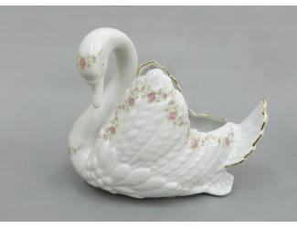 Лебедь конфетница Leander Мелкие цветы декор 0158