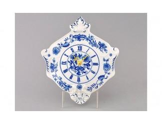 Часы настенные гербовые 27см Leander Мэри-Энн Гжель (Луковый рисунок) декор 0055