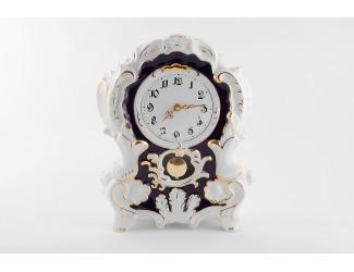 Часы каминные 32см Leander Кобальт, отводка золото