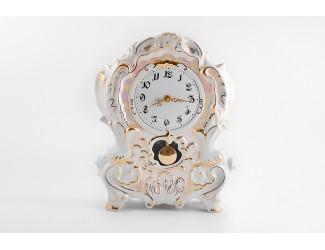 Часы каминные 32см Leander Перламутр, отводка золото