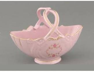 Корзина 18см Leander Соната Мелкие цветы декор 0158 розовый фарфор