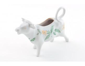 Сливочник-корова 0,07л Leander Мэри-Энн Зелёные листья декор 1381