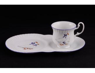 Сервиз для завтрака 3 предмета Leander Моника Гуси декор 0807