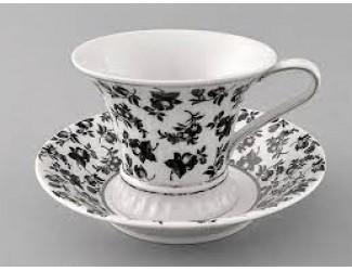Чайная пара Leander Светлана в подарочной кожаной коробке декор 2204 57120415-2204k
