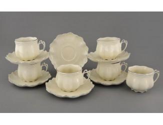 Набор чайных пар на 6 персон 12 предметов 0,20л Leander Виктория мокко