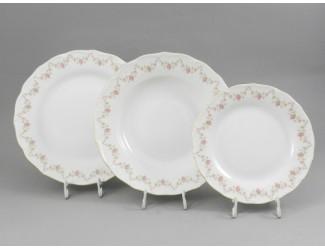 Набор тарелок 18 предметов  Leander Верона Мелкие цветы декор 0158