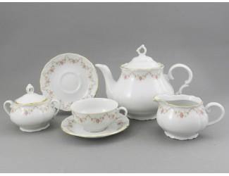 Сервиз чайный 15 предметов 6 персон Leander Верона Мелкие цветы 0158