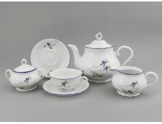 Сервиз чайный 15 предметов 6 персон Leander Верона Гуси 0807