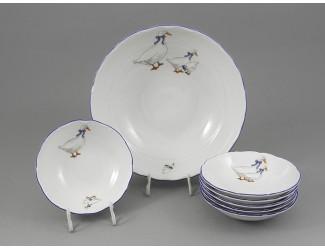 Набор салатников 7 предметов Leander Верона Гуси декор 0807