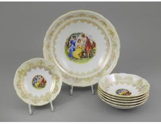 Набор салатников 7 предметов Leander Верона Мадонна золото декор 1907