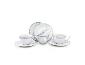 Набор чайных пар на 4 персоны 8 предметов Leander Hyggelyne, голубой