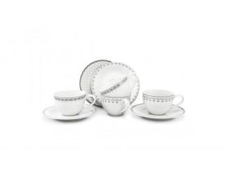 Набор чайных пар на 4 персоны 8предметов Leander Hyggelyne, серый
