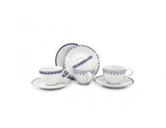 Набор чайных пар на 4 персоны 8 предметов Leander Hyggelyne, синий