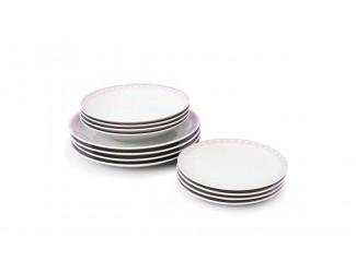 Набор тарелок 12 предметов Leander Hyggeline, розовый