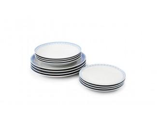 Набор тарелок 12 предметов Leander Hyggeline, голубой