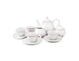 Чайный сервиз на 4 персоны 11 предметов Leander Hyggelyne, розовый