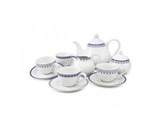 Чайный сервиз на 4 персоны 11 предметов Leander Hyggelyne, синий