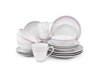 Чайно-столовый на 4 персоны 20 предметов Leander Hyggelyne, розовый