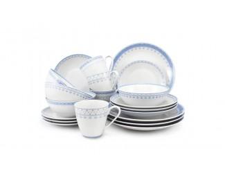 Чайно-столовый сервиз на 4 персоны 20 предметов Leander Hyggelyne, голубой