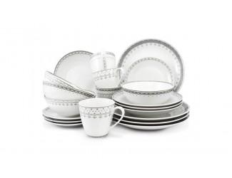 Чайно-столовый сервиз на 4 персоны 20 предметов Leander Hyggelyne, серый