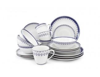 Чайно-столовый сервиз на 4 персоны 20 предметов Leander Hyggelyne, синий