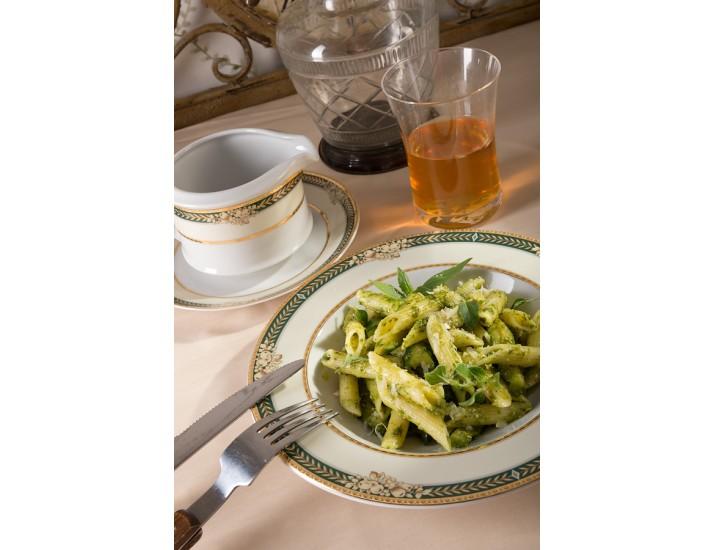 Блюдо для гарнира овальное 22см, Leander Сабина, Фрукты на зелёной ленте