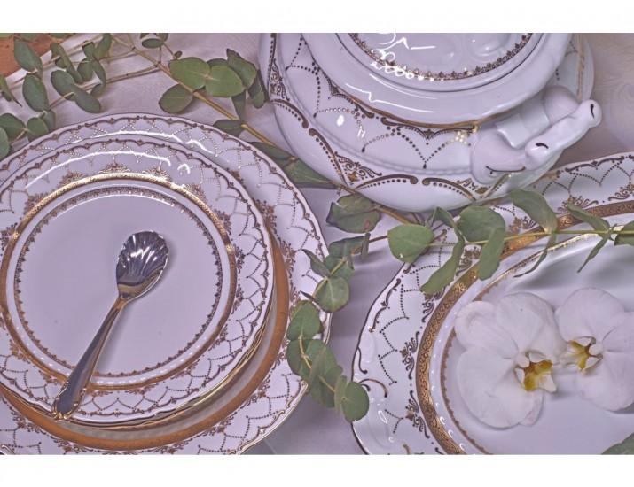 Блюдо круглое мелкое 32смLeander Соната Золотая чешуя декор 2517 07111315-2517