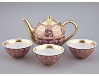 Подарочный набор чайный Rudolf Kampf Александрия Тет-а-тет 4 предмета розовый 36140714-2281