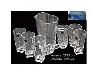 Набор бокалов  для воды+графин Lenardi 588-056
