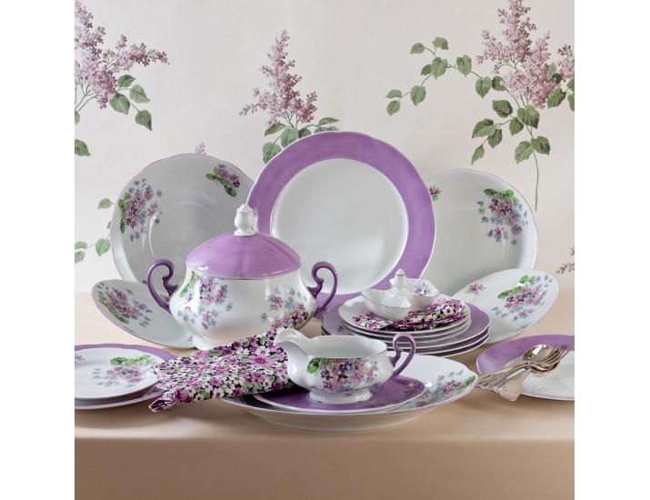 Блюдо овальное 23см Leander Мэри-Энн Лиловые цветы декор 2391 03111726-2391