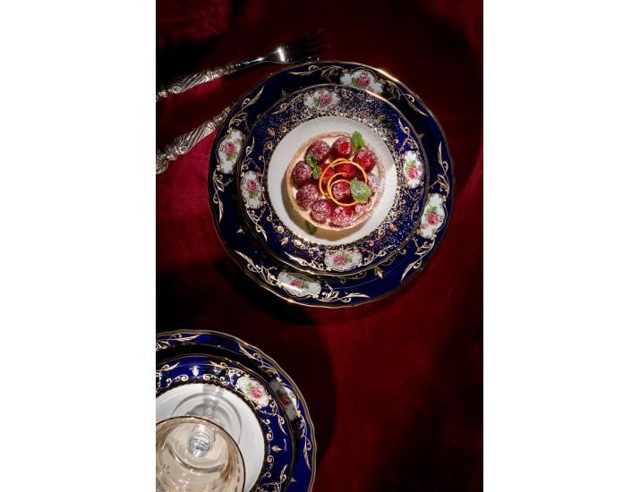 Блюдо овальное 17см Leander Соната Мелкие цветы (Кобальт) декор 0440  07116123-0440