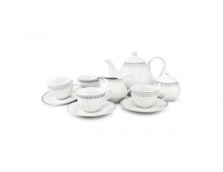 Чайный сервиз на 4 персоны 11 предметов Leander Hyggelyne, серый