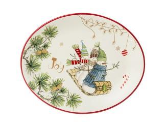Блюдо овальное31,5*25,5см Agness Зимняя забава 358-1835