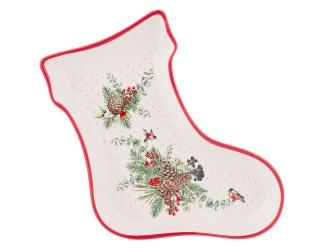 Блюдо-носок 25,5*19,5*3,5см Agness Celebration 358-1940