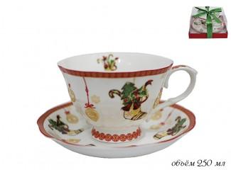 Чайная пара 250 мл Lenardi Новогодний 105-032