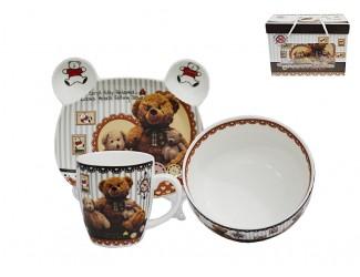 Набор детский Lenardi 3 предмета плюшевые мишки 105-039