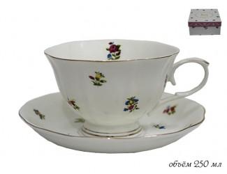 Чашка с блюдцем 250мл. Lenardi Полевые цветы 105-047