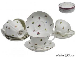 Набор чайных пар на 6 персон 12 предметов Lenardi Полевые цветы 105-048