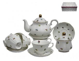 Чайный сервиз на 6 персон 16 предметов Lenardi Полевые цветы 105-049