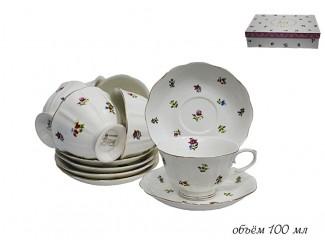 Набор кофейных пар 12 предметов Lenardi Полевые цветы 105-050