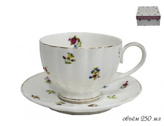 Чашка с блюдцем 250мл. Lenardi Полевые цветы 105-051