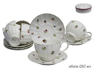 Набор чайных пар 12 предметов Lenardi Полевые цветы 105-052