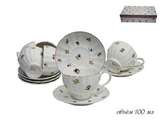 Набор кофейных пар 12 предметов Lenardi Полевые цветы 105-054